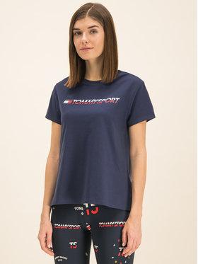 Tommy Sport Tommy Sport Póló Tee Logo S10S100061 Sötétkék Regular Fit