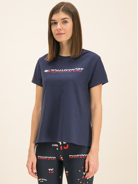 Tommy Sport Tommy Sport T-Shirt Tee Logo S10S100061 Dunkelblau Regular Fit