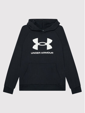 Under Armour Under Armour Majica dugih rukava Ua Rival Fleece Big Logo 1357585 Crna Loose Fit