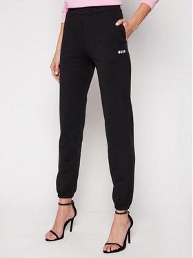MSGM MSGM Spodnie dresowe 3041MDP64 217299 Czarny Regular Fit