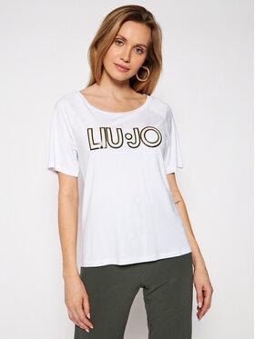 Liu Jo Sport Liu Jo Sport T-Shirt TA1012 J7905 Biały Regular Fit