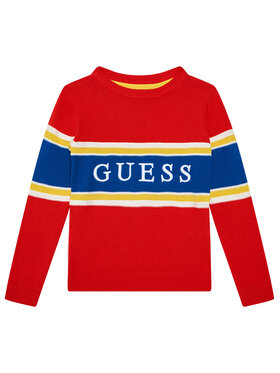 Guess Guess Pullover N1YR00 Z2S40 Rot Regular Fit