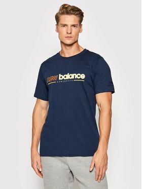 New Balance New Balance Marškinėliai MT13500 Tamsiai mėlyna Relaxed Fit