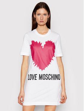 LOVE MOSCHINO LOVE MOSCHINO Vestito da giorno W5A0221M 3876 Bianco Regular Fit