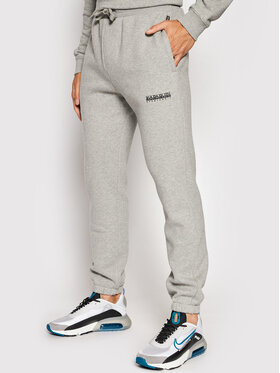 Napapijri Napapijri Spodnie dresowe M-Box NP0A4FR6 Szary Regular Fit