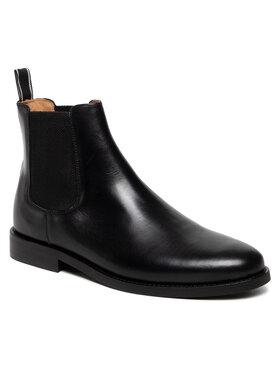 Gant Gant Členková obuv s elastickým prvkom Sharpville 23651210 Čierna