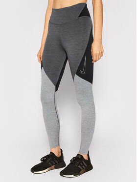 Nike Nike Leginsai One CJ3913 Pilka Slim Fit