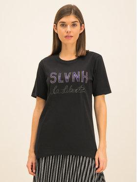 Silvian Heach Silvian Heach T-Shirt Stitten PGA19022TS Černá Regular Fit