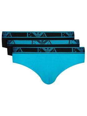 Emporio Armani Underwear Emporio Armani Underwear Súprava 3 párov slipov 111734 0A715 91120 Modrá