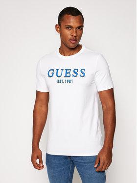Guess Guess T-Shirt M0BI59 J1300 Bílá Slim Fit