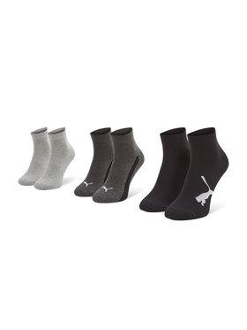 Puma Puma Set di 3 paia di calzini corti da bambini 907961 01 Nero
