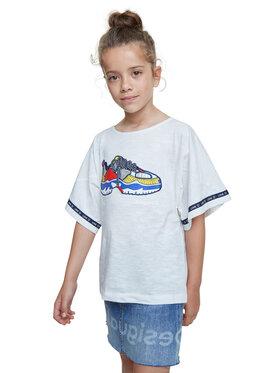 Desigual Desigual T-Shirt Derby 20SGTK21 Bílá Regular Fit