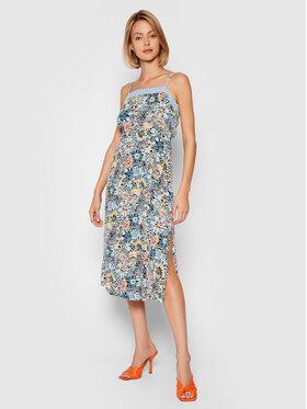 Roxy Roxy Sukienka letnia Marine Bloom ERJWD03565 Kolorowy Regular Fit