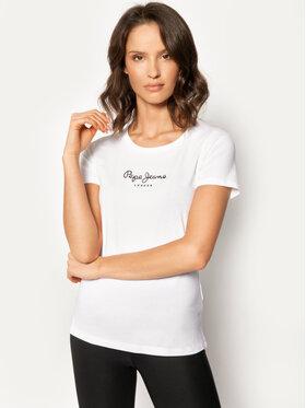 Pepe Jeans Pepe Jeans T-Shirt PL502711 Bílá Slim Fit