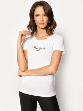 Pepe Jeans Pepe Jeans T-shirt PL502711 Blanc Slim Fit