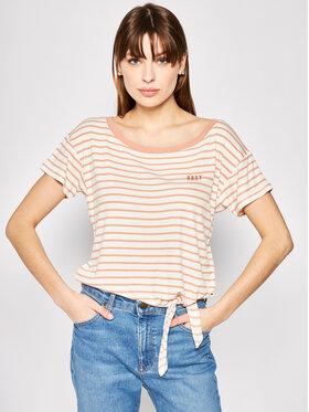 Roxy Roxy T-shirt Wake Up With The Sun Tie ERJZT04818 Bež Regular Fit