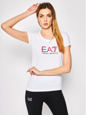 EA7 Emporio Armani EA7 Emporio Armani T-shirt 8NTT63 TJ12Z 0196 Bianco Slim Fit