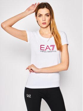 EA7 Emporio Armani EA7 Emporio Armani Tricou 8NTT63 TJ12Z 0196 Alb Slim Fit