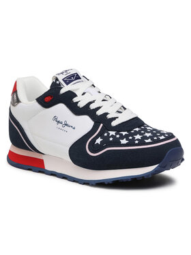 Pepe Jeans Pepe Jeans Sneakersy Klein Stars Girl PGS30496 Granatowy