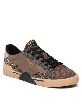 Pepe Jeans Pepe Jeans Sneakersy Kioto Mix PLS31239 Hnědá