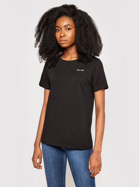 NA-KD NA-KD T-shirt Basic Logo Tee 1044-000097-0002-003 Nero Loose Fit