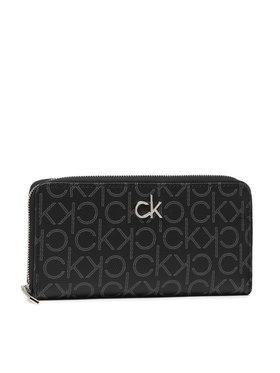 Calvin Klein Calvin Klein Veľká dámska peňaženka Slim Z/A Wallet Lg Monogram K60K608326 Čierna