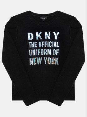 DKNY DKNY Blúz D35Q81 D Fekete Regular Fit