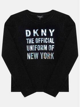 DKNY DKNY Bluzka D35Q81 D Czarny Regular Fit