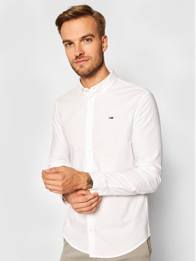 Tommy Jeans Tommy Jeans Риза Oxford DM0DM09594 Бял Slim Fit