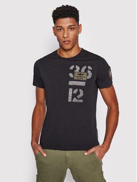 Aeronautica Militare Aeronautica Militare T-shirt 211TS1868J492 Crna Regular Fit
