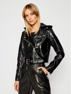 Calvin Klein Jeans Calvin Klein Jeans Bőrkabát J20J215652 Fekete Regular Fit