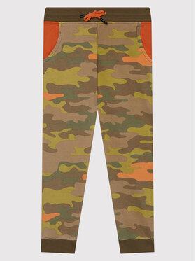 Guess Guess Teplákové kalhoty N1BQ12 KAD70 Zelená Regular Fit