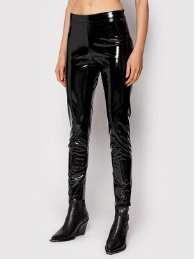 Rinascimento Rinascimento Nohavice z imitácie kože CFC0104849003 Čierna Skinny Fit