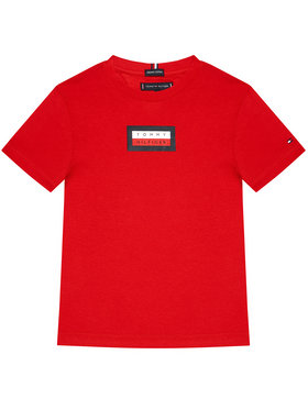 Tommy Hilfiger Tommy Hilfiger T-Shirt Graphic KB0KB06518 D Czerwony Regular Fit