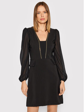Rinascimento Rinascimento Sukienka koktajlowa CFC0104473003 Czarny Regular Fit