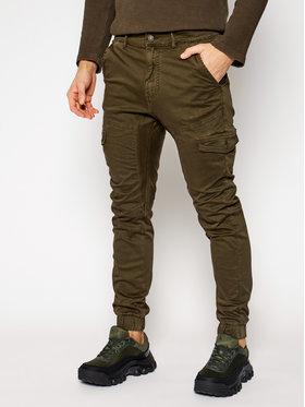 Guess Guess Jogger kelnės New Kombat M0BB17 WDCY1 Žalia Slim Fit