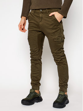 Guess Guess Joggers kalhoty New Kombat M0BB17 WDCY1 Zelená Slim Fit