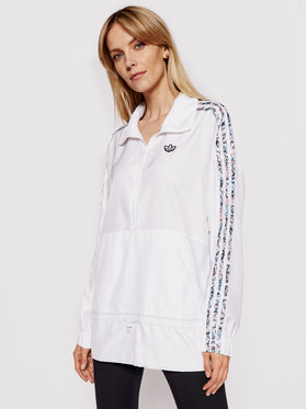 adidas adidas Giacca anorak Half-Zip GN3106 Bianco Standard Fit