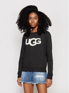 Ugg Ugg Pulóver Fuzzy Logo 1110233 Fekete Regular Fit