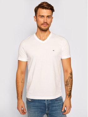 Calvin Klein Calvin Klein T-Shirt Logo Embroidery K10K103672 Biały Regular Fit