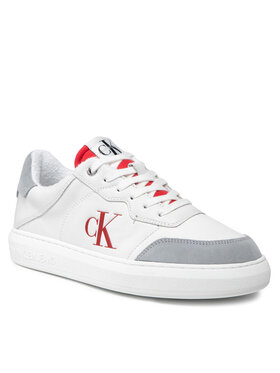 Calvin Klein Jeans Calvin Klein Jeans Sneakersy Cupsole Laceup Casual Warm YM0YM00283 Biały