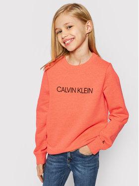 Calvin Klein Jeans Calvin Klein Jeans Felpa Institutional Logo IU0IU00162 Arancione Regular Fit