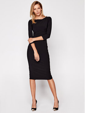 Elisabetta Franchi Elisabetta Franchi Коктейлна рокля AB-038-06E2-V369 Черен Slim Fit