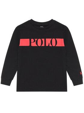 Polo Ralph Lauren Polo Ralph Lauren Μπλουζάκι Ls Cn 322836651001 Μαύρο Regular Fit
