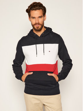 TOMMY HILFIGER TOMMY HILFIGER Sweatshirt Colorblock Hoody MW0MW12871 Dunkelblau Regular Fit