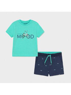 Mayoral Mayoral Set tricou și pantaloni scurți sport 1673 Colorat Regular Fit
