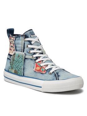 Desigual Desigual Sneakersy Shoes Beta Denim Patch 21WSKD02 Modrá