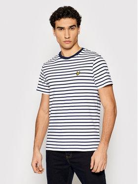 Lyle & Scott Lyle & Scott T-Shirt Breton Stripe TS508VB Weiß Regular Fit
