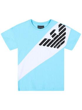 Emporio Armani Emporio Armani T-Shirt 3H4T03 4J09Z 0752 Niebieski Regular Fit