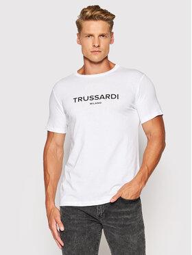 Trussardi Trussardi T-shirt Logo 52T00509 Bianco Regular Fit
